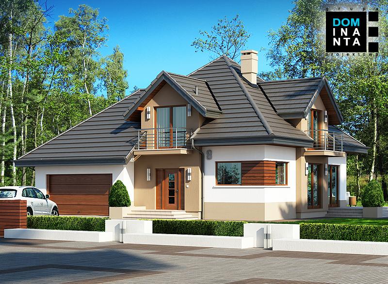 Typowy projekt domu jednorodzinnego