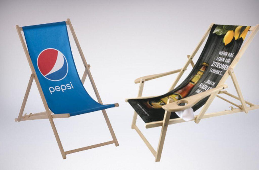 leżaki reklamowe